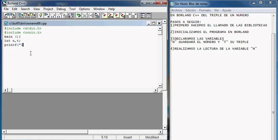Estructura Secuencial Ejemplo Programacion Borland C