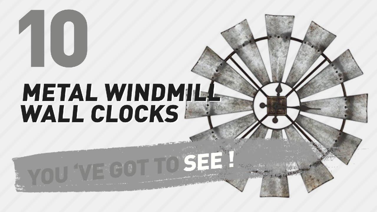 Metal windmill wall clocks new popular 2017 youtube metal windmill wall clocks new popular 2017 amipublicfo Images