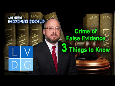 "Crime of ""offering false evidence"" in Nevada – 3 Things to Know"