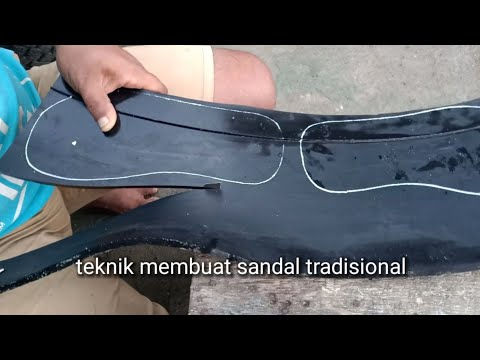 technique of making rubber sandals manually