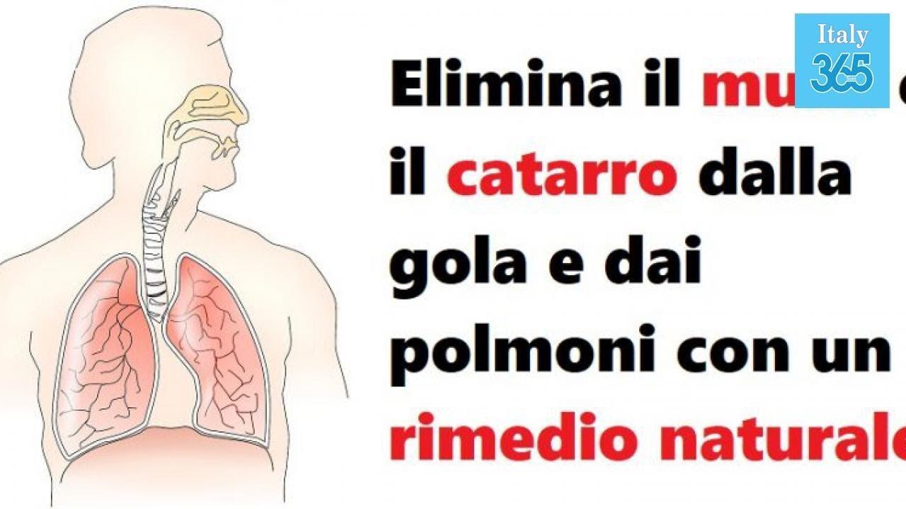 Come eliminare il catarro e muco da gola e polmoni