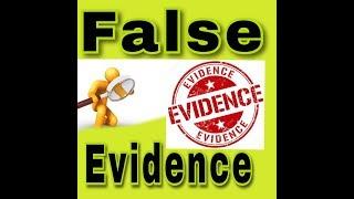 False evidence, From YouTubeVideos