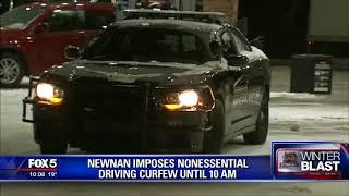 Newnan has curfew due to snow