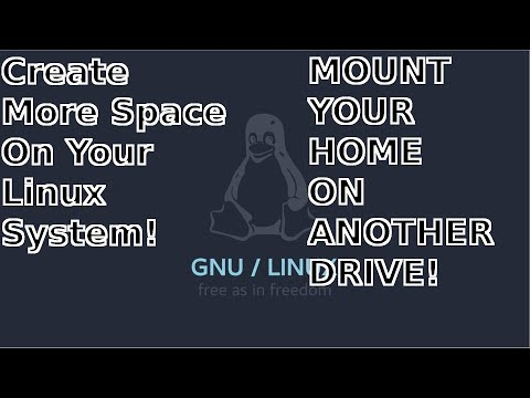MOVE YOUR HOME DIRECTORY TO A DIFFERENT DRIVE IN LINUX