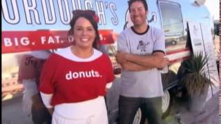 hungry todd rungy dives in seven gourdoughs big fat donuts