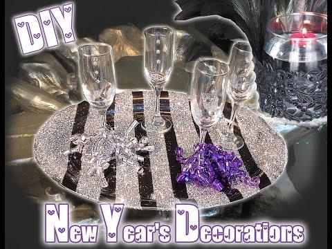 DIY New Years Decorations- GLAMOROUS IDEAS!