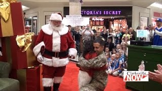 Military Dad Surprises Girls After They Ask Santa for Christmas Homecoming