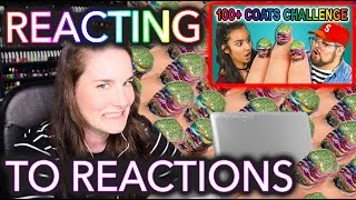 100 REACTIONS? Simply Nailogical Reacts to College Kids React to 100+ Coats #POLISHMOUNTAIN