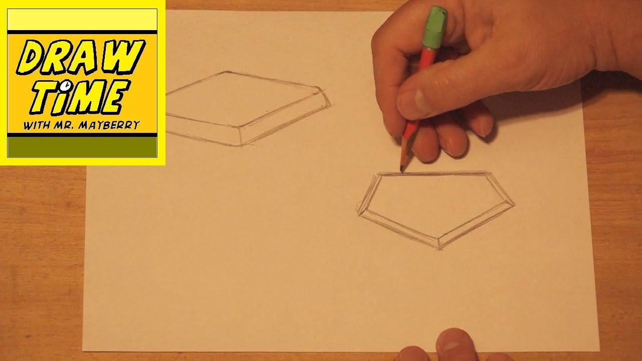 How to Draw a Baseball Base & Home Plate - YouTube