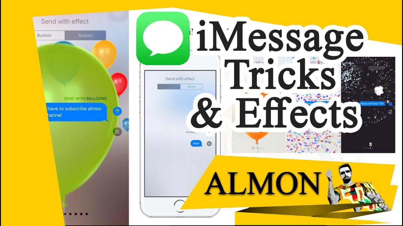 iMessage Tips and Tricks ( Effects 2018 )