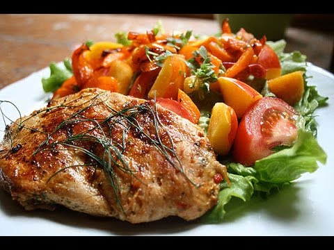 Baked Chicken Breast With Pumpkin & Red Bell Pepper