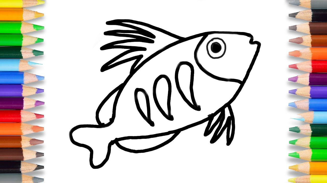 Kids Art / How To Draw Fish Simple Shapes Drawing / Fish