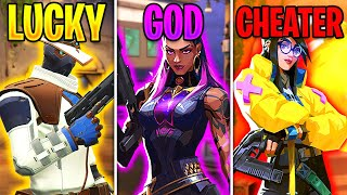 Valorant: LUCKY vs GOD vṡ CHEATER - Impossible Clips & 200 IQ Outplays - Valorant Highlights Montage