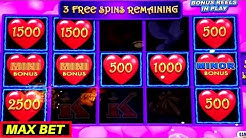 Lightning Link Heart Throb Slot Machine Max Bet BONUSES & Lightning Link Wild Chuco Free Games Won