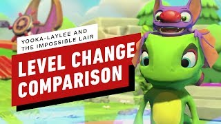 Yooka Laylee and the Impossible Lair Level Change Gameplay