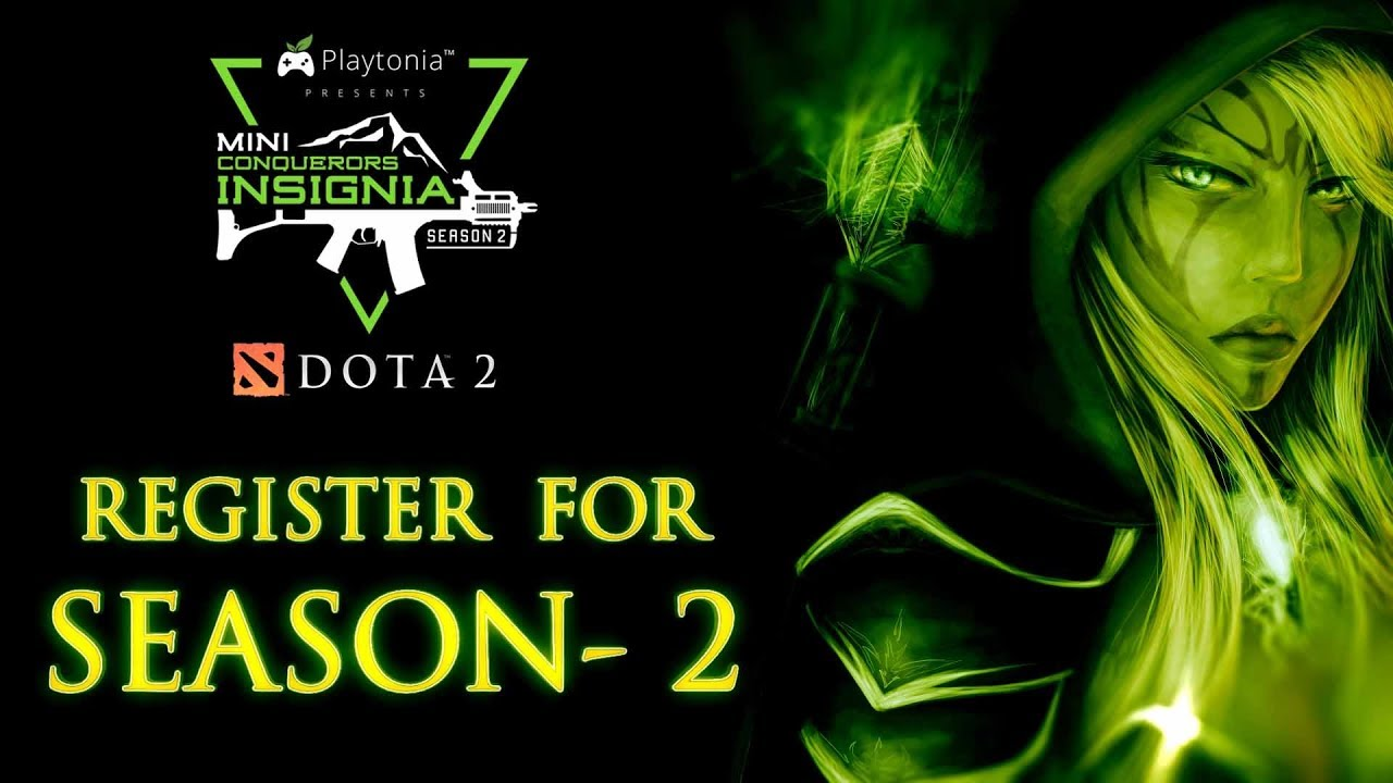 register for dota 2 conquerors insignia season 2 youtube