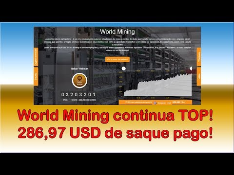 World Mining - Saque de 286,97 dólares - Pagando muito rápido!