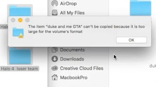 The item can't be copied because it is too large for the volume's format - How To FIX error Mac