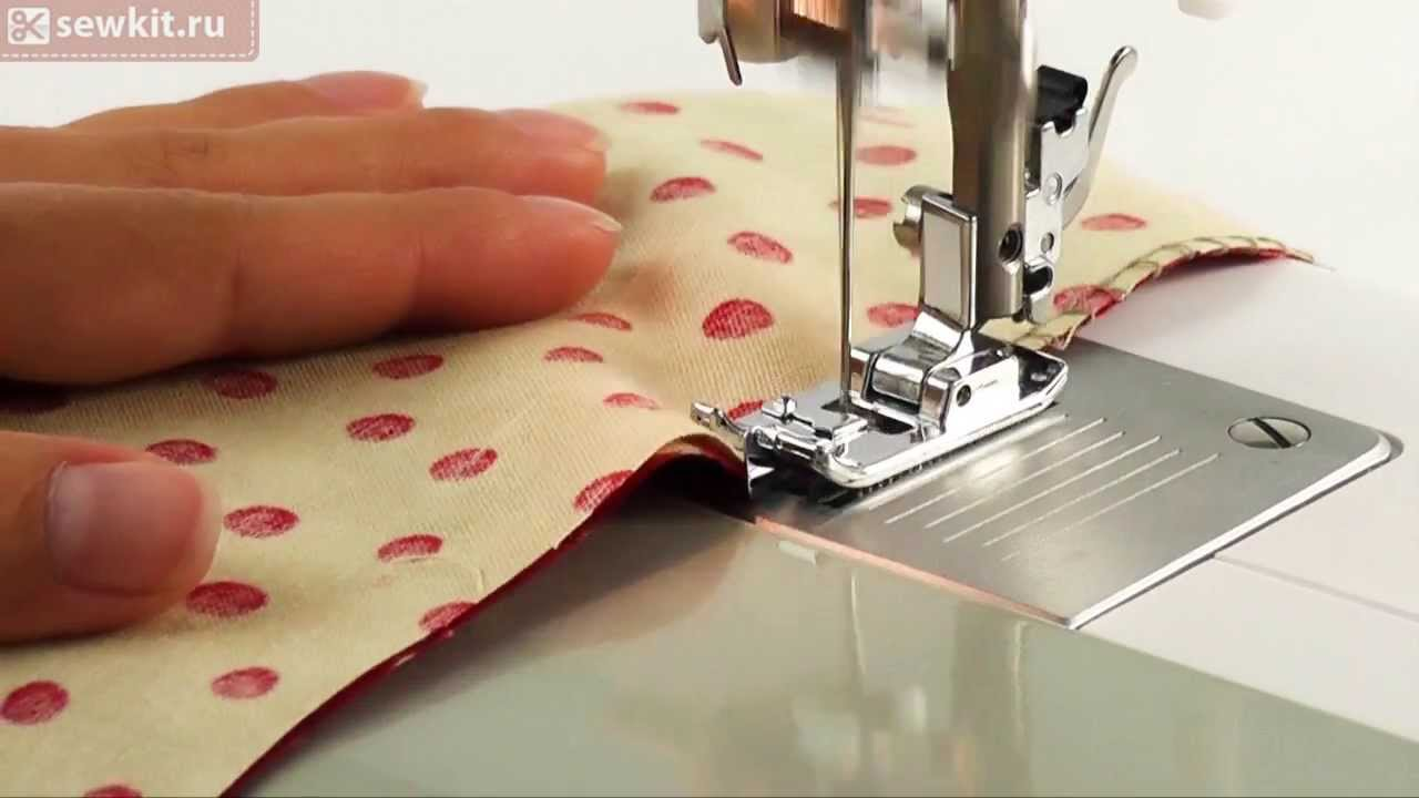 Пришивание потайной молнии с помощью Family GoldMaster 8018 - YouTube