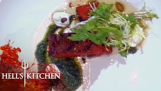Chef Serves Gordon Ramsay Grilled Watermelon | Hell's Kitchen