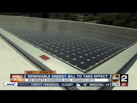 Renewable energy bill to take effect
