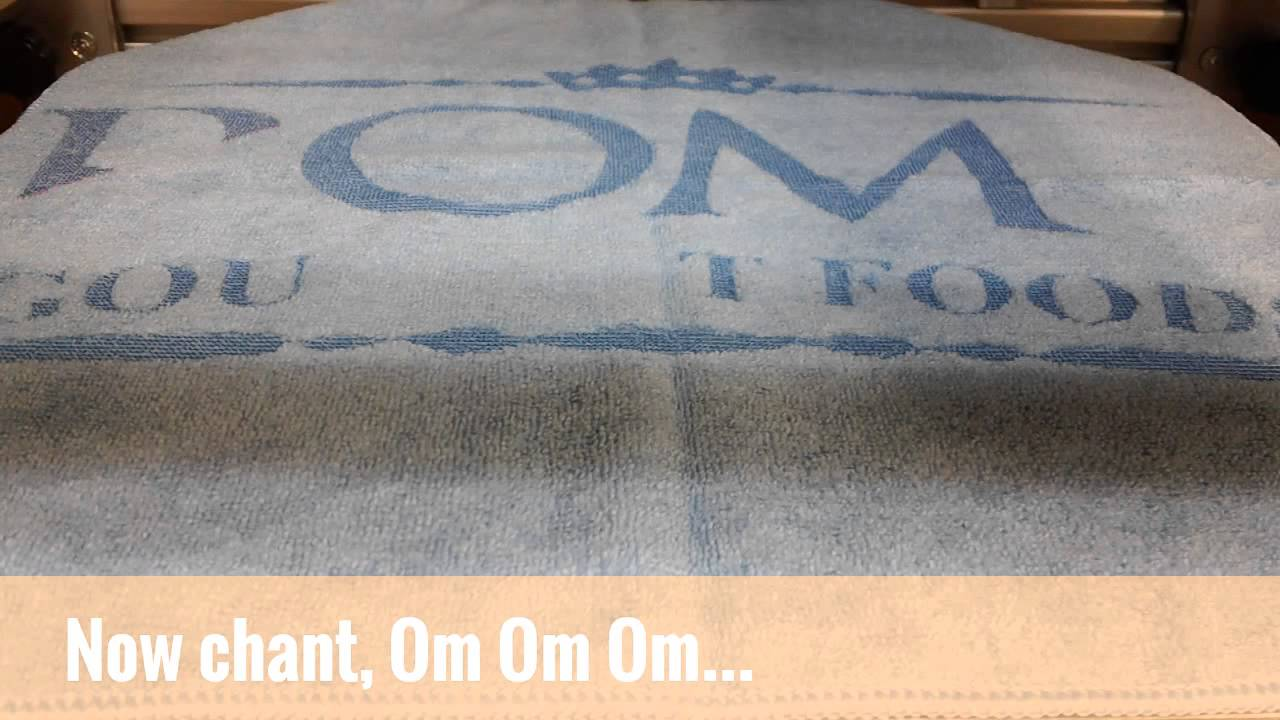 East Coast Embroidery Does Meditation Laser Etching Style Om