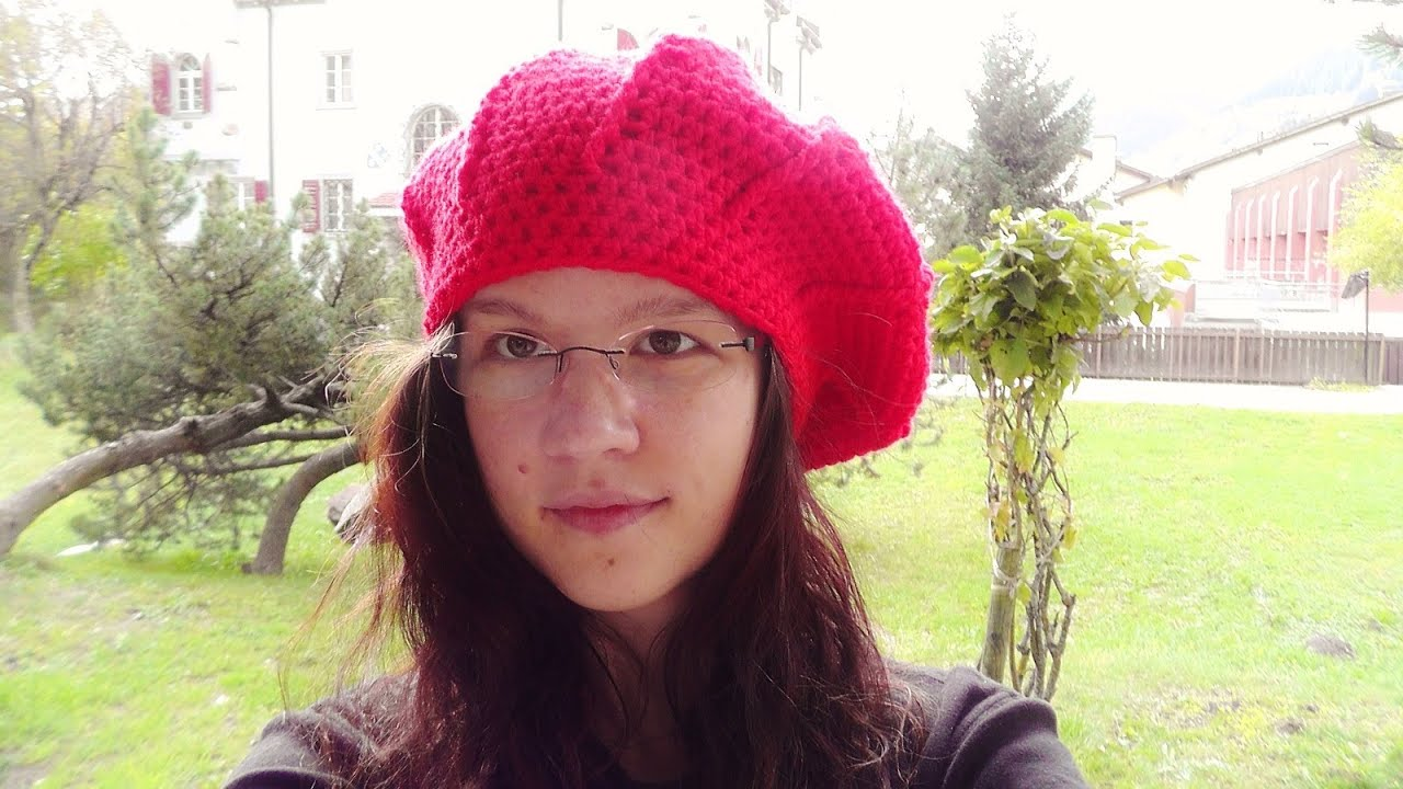 How to crochet a beret beanie Schachenmayr Bravo Mezzo - YouTube