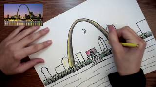 How to draw the Gateway Arch Part 2