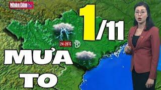 Dự báo thời tiết hôm nay và ngày mai 1/11 | Dự báo thời tiết đêm nay mới nhất