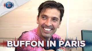 GIGI BUFFON'S FIRST STEPS IN PARIS