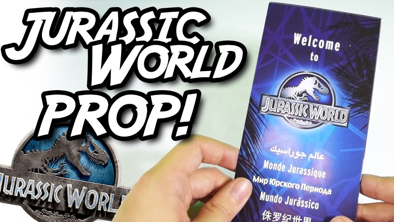 jurassic world brochure prop dinosaurs attractions map tour youtube