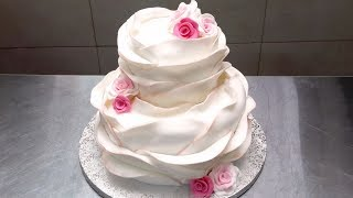 Make Your Own BEAUTIFUL WEDDING CAKE  How To Decorate  by Cakes StepbyStep