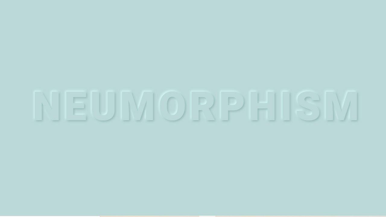 CSS Neumorphism Text  Effect Design Tutorial | Neumorphic Text Effect Using HTML And CSS
