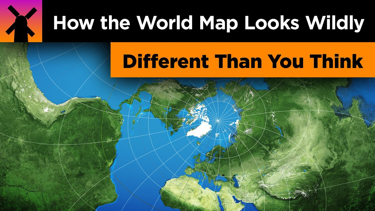 Photos World Map.How The World Map Looks Wildly Different Than You Think Youtube