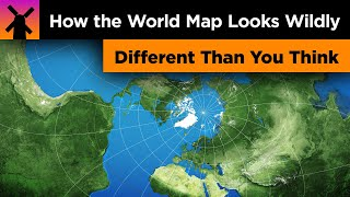 How the World Map Looks Wildly Different Than You Think thumbnail