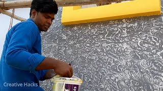 The Most Simple and Cheaply -Decorative Plaster own Hands