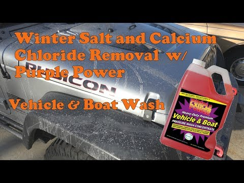 2015 Jeep Wrangler Rubicon Salt and Calcium Chloride Removal with Purple Power Vehicle and Boat Wash