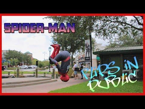 THE AMAZING SPIDER-MAN FLIPS IN PUBLIC
