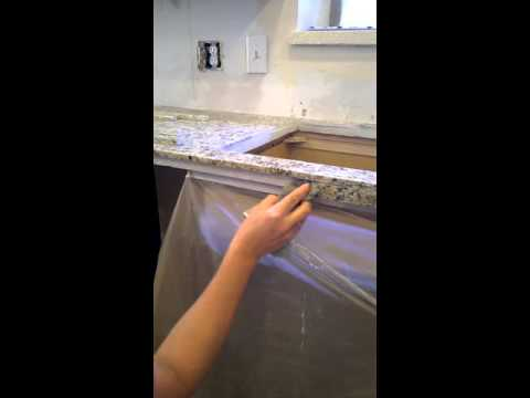 How to make your own granite tile countertop edge part 1