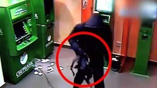10 случаев жести с БАНКОМАТАМИ | Ограбления банкоматов, снятые на камеру