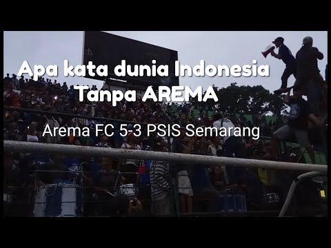 RESPECT!!! Apa Kata Dunia Indonesia tanpa AREMA??? Teriakan AREMANIA di Stadion Gajayana