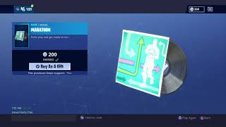 New MARATHON Music Fortnite Item shop! Running Man, 200 vbucks