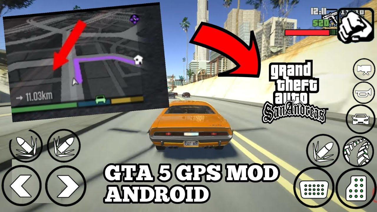 GTA V GPS MOD FOR GTA SA ANDROID | GPS MOD WORKING IN ALL DEVICES FOR GTA SA ANDROID, Hack fyou