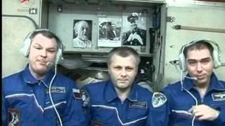 Школьников поздравили из космоса