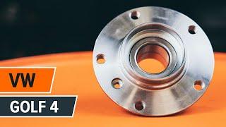 Regardez notre guide vidéo sur le dépannage Jeu de roulements de roue VW