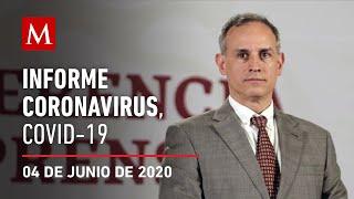 Informe diario por coronavirus en México, 04 de junio de 2020