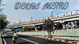 Delhi Metro Blue Line .Akshardhaam Station ( Dwarka to Noida )