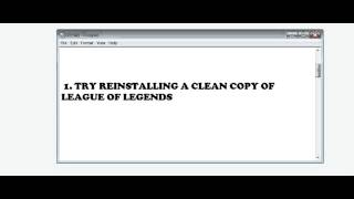 League of Legends Maestro Error (FIX!!!!)