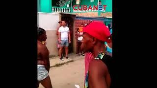 """Protesta en """"La Cuevita"""" por abuso policial - San Miguel del Padrón, La Habana, Cuba"""