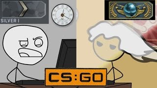 What it feels like to become a Global elite in CSGO from noob